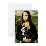 Mona & her Boston Ter Greeting Card