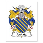 Anhaia Family Crest Small Poster