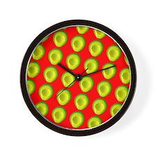 Avocado Fiesta for Hector Wall Clock