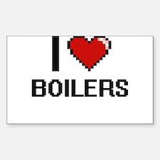I Love Boilers Digitial Design Decal