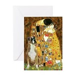 The Kiss & Boxer Greeting Card