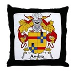 Ambia Family Crest  Throw Pillow