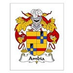 Ambia Family Crest  Small Poster