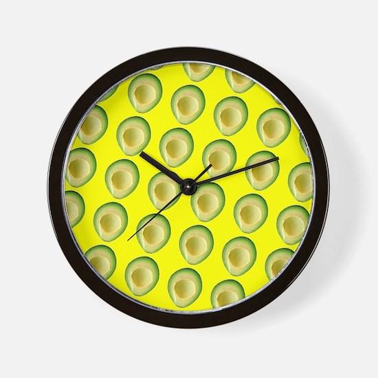 Avocado Sunrise Avery's Fave Wall Clock