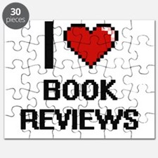 I Love Book Reviews Digitial Design Puzzle