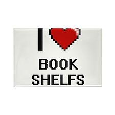 I Love Book Shelfs Digitial Design Magnets