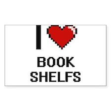 I Love Book Shelfs Digitial Design Decal