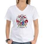 Alvaraes Family Crest Women's V-Neck T-Shirt