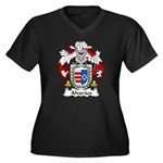 Alvaraes Family Crest Women's Plus Size V-Neck Dar