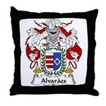 Alvaraes Family Crest Throw Pillow