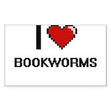 I Love Bookworms Digitial Design Decal