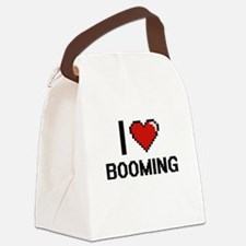 I Love Booming Digitial Design Canvas Lunch Bag