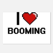 I Love Booming Digitial D Postcards (Package of 8)