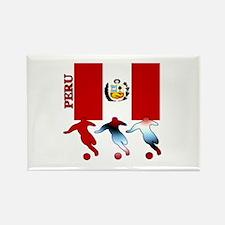 Peru Soccer Rectangle Magnet