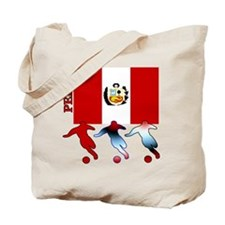 Peru Soccer Tote Bag