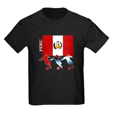 Peru Soccer Kids Dark T-Shirt