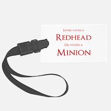 Redhead or Minion Luggage Tag
