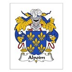 Alpoim Family Crest Small Poster