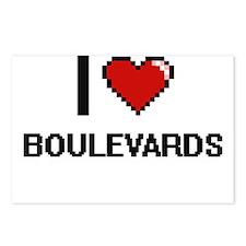 I Love Boulevards Digitia Postcards (Package of 8)