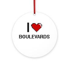 I Love Boulevards Digitial Design Ornament (Round)