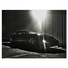 Pontiac Trans Am Night Canvas Art