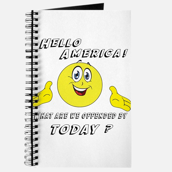 Hello America Sarcastic Smiley Journal