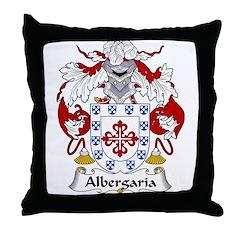 Albergaria Family Crest Throw Pillow