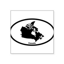"Cute Yukon Square Sticker 3"" x 3"""