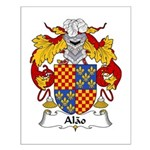 Alao Family Crest  Small Poster
