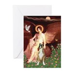 Seated Angel & Boxer Greeting Cards (Pk of 20)