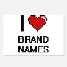 I Love Brand Names Digiti Postcards (Package of 8)