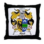 Abul Family Crest Throw Pillow