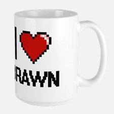 I Love Brawn Digitial Design Mugs