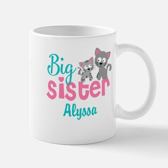 Big sister kitty personalized Mugs