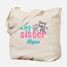 Big sister kitty personalized Tote Bag