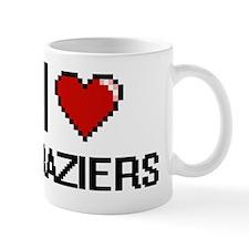 I Love Braziers Digitial Design Mug