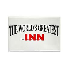 """""""The World's Greatest Inn"""" Rectangle Magnet"""