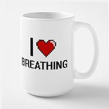 I Love Breathing Digitial Design Mugs