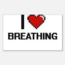 I Love Breathing Digitial Design Decal