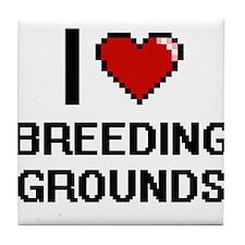 I Love Breeding Grounds Digitial Desi Tile Coaster