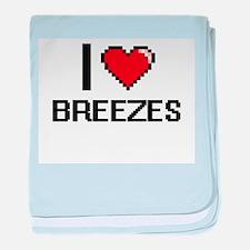 I Love Breezes Digitial Design baby blanket