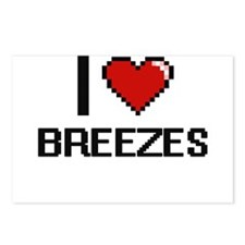 I Love Breezes Digitial D Postcards (Package of 8)