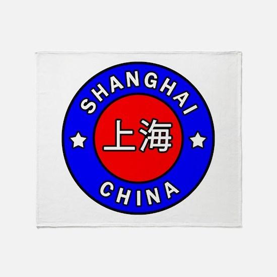 Shanghai China Throw Blanket