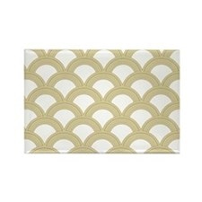 Art Deco Concentric Gold Rectangle Magnet