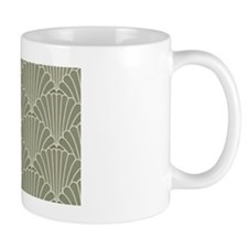 Art Deco Shell Sage Small Mugs