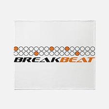 Break beat orange.png Throw Blanket