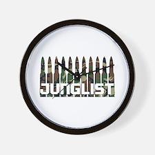 Junglist Camo1.png Wall Clock