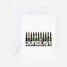 Junglist Camo1 Greeting Cards