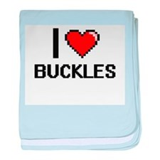 I Love Buckles Digitial Design baby blanket