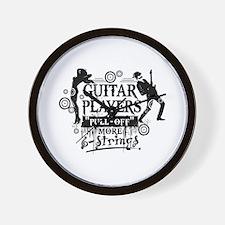 Guitar Player slogan Wall Clock